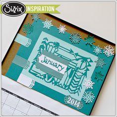 Sizzix Inspiration | January Calendar by Monika Baptista