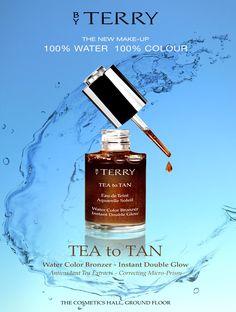 Encart publicitaire pour Harrods magazine E Cosmetics, Harrods, Bronzer, Perfume Bottles, Glow, Make Up, Tea, Magazine, Makeup