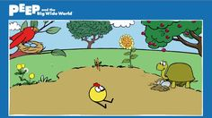 GAME: ROUND AND ROUND Explore how different plants and animals grow and change over time, including a sunflower, a cherry tree, and more in the Round and Round game at http://www.peepandthebigwideworld.com/ #PEEP #WGBH #Game #Preschool #kids #PEEPandtheBigWideWorld #Quack #Chirp