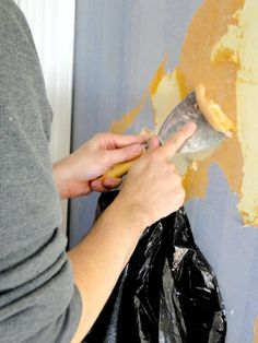 Be sure to prime with an oil based primer after scraping off wallpaper before painting. Water based products will re activate residual glue and bleed through your finish. Ask me how I know!