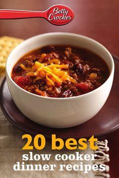Bargain e-Cookbook: Betty Crocker 20 Best Slow Cooker Dinner Recipes {99 cents!} #crockpot #slowcooker #recipe