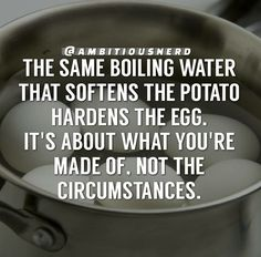 It's about you, not your circumstances.