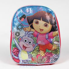 Jelfis.com - 10' Nickelodeon Dora the Explorer and Mr.Boots Sequin Mini Toddler Backpack, $13.99 (http://www.jelfis.com/10-nickelodeon-dora-the-explorer-and-mr-boots-sequin-mini-toddler-backpack/)