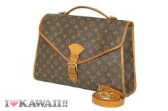 Auth Louis Vuitton Monogram Beverly Hand Bag Briefcase Shoulder Free Shipping!