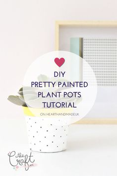 Update your boring terracotta plant pots with some paint! A perfect spring DIY project