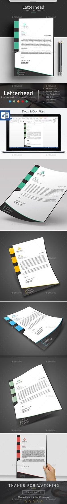 Corporate Letterhead Letterhead design, Stationery printing and - free word letterhead template