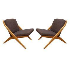 2 Vintage Folke Ohlsson for Dux Scissor Chairs Price REDUCED | eBay $2500