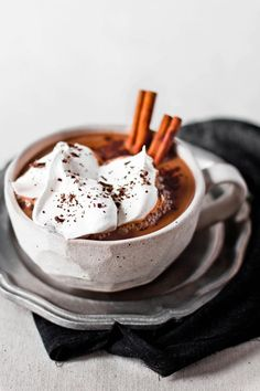 Who could say no to this Cinnamon Hot Chocolate? Make a delicious hot chocolate in your Mr. Coffee® Café Latte and ice cream Yummy Drinks, Yummy Food, Think Food, Hot Chocolate Recipes, Old Fashioned Hot Chocolate Recipe, Snacks, Smoothies, Delish, Sweet Tooth