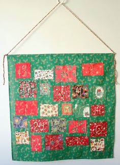 Handmade pocket advent calendar