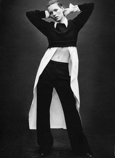 Kate Moss by Patrick Demarchlier for Calvin Klein. Creative direction Neil Kraft. KraftWorks NYC