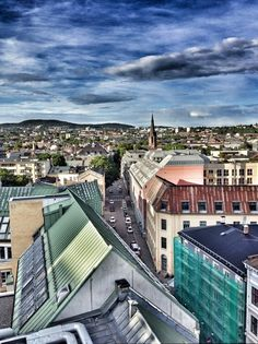 Oslo - from the roof of Comfort Xpress Hotel