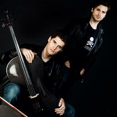 This is Luka Sulic and Stjepan Hauser, the two people who make up the group 2Cellos.
