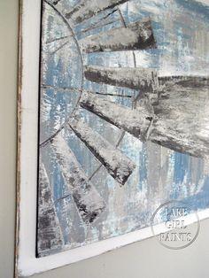 Lake Girl Paints: Painting Windmill Art