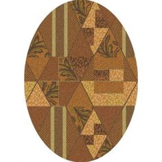 Pastiche Valencia Sunset Gold Oval Rug - 7436-664 By Milliken