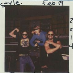 """""""We wrote 'Style' exactly a year ago. Max, the guy flexin on the right, just won Producer of the Year at the Grammys."""" I am SOOOO jealous!!  Max Martin has been my musical hero since I was 14! Hey, remember that time I met him (at age 28!) and I was telling him how he inspired me to love music and I was talking about his reverse cymbal and he goes, """"Oh, so you're a nerd?"""" and I almost cried cuz tha's pretty much the biggest compliment I've ever received in my life?  YEAH!"""