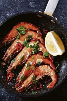 Australian Gourmet Traveller recipe for prawn satay by Pete Evans. King Prawn Recipes, Fish Recipes, Seafood Recipes, Healthy Recipes, Restaurant Fish, Gula, Food Inspiration, Love Food, Food Photography