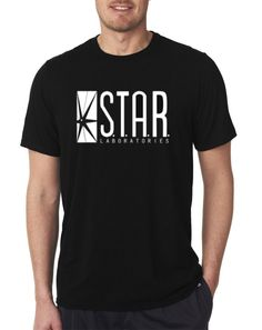 The Flash DC Barry Allen Laboratories Star Labs Black T Shirt