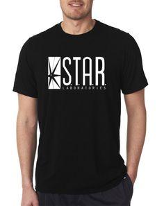 The Flash DC Barry Allen Laboratories Star Labs Black T Shirt