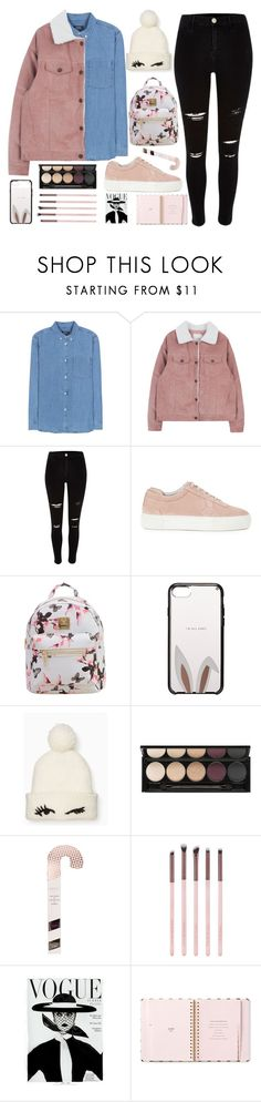 """Без названия #131"" by lena-volodivchyk ❤ liked on Polyvore featuring A.P.C., River Island, Axel Arigato, WithChic, Kate Spade, Witchery and Luxie"