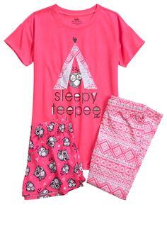Owl Teepee Pajama Set (original price, $36.90) available at #Justice