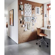 Cork wall office space Design by Coco Lapine #cocolapine #interiordesign #design #interior #inspire #inspiration #blog #interiorblog #blogger #architecture #style #cork #wall #office #space #design #interi0rdesign by interi0rdesign