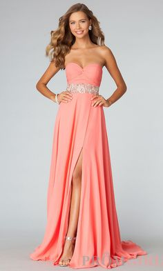 ab0f67c359 Beaded waist full chiffon gown with slit ~ mirellas.ca Jovani Dresses