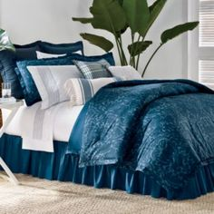 Chaps Home at Kohl's - Shop our entire selection of window treatments, including these Chaps Home Shelter Island Bedding Coordinates, at Kohl's. Floral Bedroom, Blue Bedroom, Bedroom Colors, Master Bedroom, Bedroom Ideas, Bedroom Inspiration, Dream Bedroom, Master Suite, Quilts