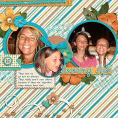 They love to have fun together!!  One of their favorite things to do is go out to eat!!  I used Young At Heart Collection from Seatrout Scraps found here:  http://store.gingerscraps.net/Young-at-Heart-Collection-5-Grab-Bag.html and a template from Connie Prince!