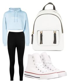 """""""Style"""" by bleuxxgirl on Polyvore featuring F.A.M.T., Boohoo, Converse and New Look"""