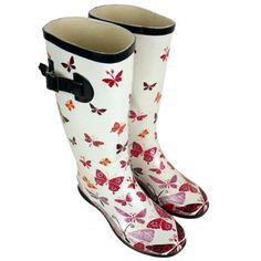 Womens Wellington Boots Printed Rain Sno...