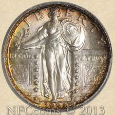 1928-D Standing Liberty Quarter MS65 PCGS FH ~ CAC Saint Joan Of Arc, Coins Worth Money, American Coins, Gold And Silver Coins, Coin Worth, Sell Gold, Rare Coins, Coin Collecting, Old Things