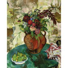 """Suzanne Valadon, """"Nature morte aux fleurs et fruits"""", 1932, Oil on canvas, 92 x 73 cm"""