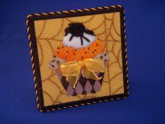 Halloween cupcake easel back  Kirk and Bradley canvas