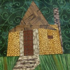 Hagrid's Hut quilt block from Fandom In Stitches.