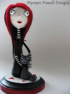 Art Doll- Custom Art Doll - Paper Clay Sculpted. $95.00, via Etsy.