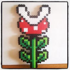 Mario pirahna plant perler beads by Pink Sugar Pastries