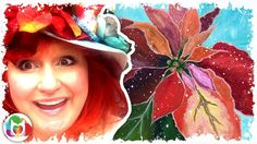 LIVE How to paint | Poinsettias Acrylics | Angelooney