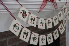 Happy Christmas banner Merry Christmas banner by OneTinyHeart, $22.00