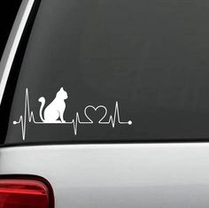 "Cat ""HeartBeat"" Exclusive Design Decal"