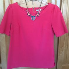Old Navy top Dark pink cotton stretchy top Old Navy Tops