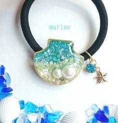 海辺の貝殻*ヘアゴム