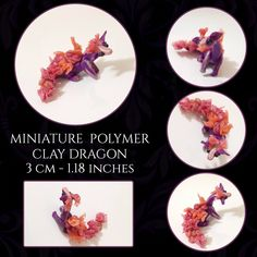 Handmade figurines and plushies. Polymer Clay Dragon, Little Dragon, Clay Art, Plushies, Create Yourself, Etsy Seller, Decorative Plates, Miniatures, Fancy