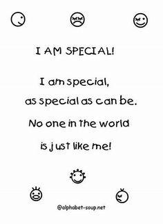 I am special theme All About Me Preschool Theme, All About Me Crafts, 3 Year Old Preschool, Preschool Poems, All About Me Activities, Preschool Classroom, Preschool Activities, Kindergarten Literacy, School Themes