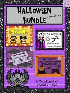 "HAPPY HALLOWEEN!  Here is a great ""treat"" for those of you who like a good deal!(Note: If purchased separately the items are normally priced at $10.50)  This Halloween Bundle contains FOUR ""spooktacular"" Halloween products.  There is a little bit of everything in this bundle."