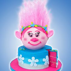 troll cake with edible hair