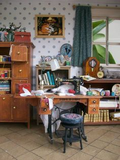 sewing room...miniature