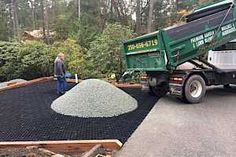 Gravel surfaces stabilized for vehicle and pedestrian traffic – CORE Landscape Gravel Pathway, Flagstone Walkway, Gravel Landscaping, Small Front Yard Landscaping, Gravel Driveway, Concrete Driveways, Landscaping With Rocks, Walkways, Diy Driveway