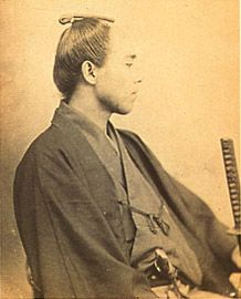 A Japanese old photograph. Fukuzawa Yukichi (1834-1901). Linguistic ability was recognized, and he participated in the mission to Europe twice.