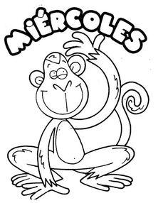 Maestra de Infantil: Los días de la semana.Carteles y poesías. Teaching Spanish, Free Coloring Pages, Art For Kids, Preschool, Letters, Education, Homework, Preschool Classroom Decor, Preschool Learning Activities