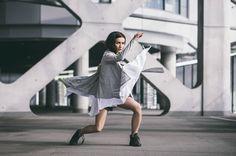 CUB lookbook spring/summer 2014 #polishfashion #fashion #cub #cub_wear #summer #cotton #natural #wild #grey #black #girl #concrete #industrial #look #city #Tshirt #cardigan #free #move #warior